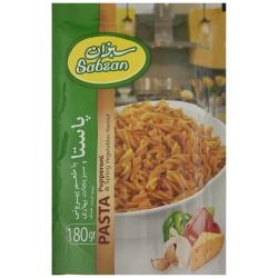 پاستا با طعم پپرونی سبزان وزن 180 گرم