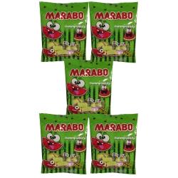 پاستیل لقمه ای شکری با طعم هندوانه مارابو -50 گرم بسته 5 عددی