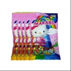 پاستیل لقمه ای شکری میوه ای مارابو – 50 گرم بسته 5 عددی