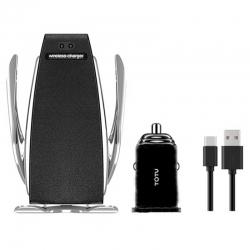 پایه نگهدارنده گوشی موبایل توتو مدل CACW-029 به همراه شارژر فندکی و کابل تبدیل USB-C