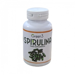 پودر جلبک اسپیرولینا کپسوله شده گرین تری بسته 100 عددی
