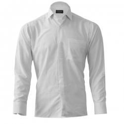 پیراهن آستین بلند مردانه مدل Classic030 رنگ سفید