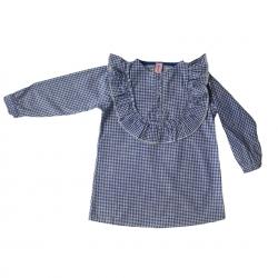 پیراهن دخترانه مدل چهار خونه کد A08