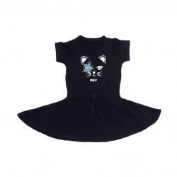 پیراهن دخترانه مدل گربه کد 0173