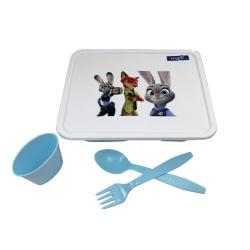 ظرف غذای 4 تکه کودک مدل زوتوپیا