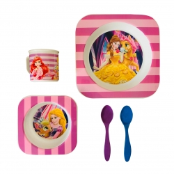 ظرف غذای 5 تکه کودک طرح پرنسس کد SH-625