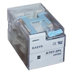 رله ۸ پایه کاکن مدل K707-2PL-24VDC بسته ۱۰ عددی