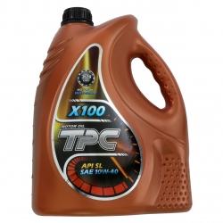 روغن موتور خودرو تی پی سی مدل X100 ظرفیت 4 لیتر
