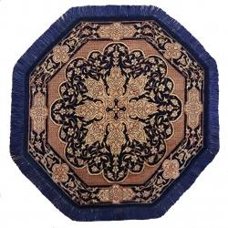رومیزی فرش دستبافت مدل ترنجی کد YM.265