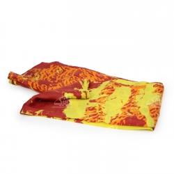 روسری ابریشمی باتیک قواره بزرگ رنگارنگ طرح رویا مدل 1213100007