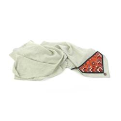 روسری زنانه آرانیک مدل سه گوش با تزیینات سوزن دوزی کد 1213100010