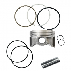 رینگ و پیستون موتورسیکلت پازل کد PSR415025H مناسب برای باکسر 150cc مجموعه 9 عددی