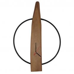 ساعت دیواری چوبی طرح روستیک مدل E101