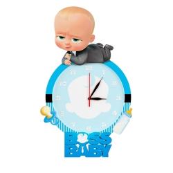 ساعت دیواری کودک طرح بچه رئیس کد Cl-82