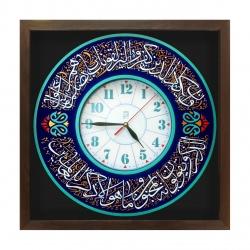 ساعت دیواری لوح هنر طرح آیه و ان یکاد کد 166