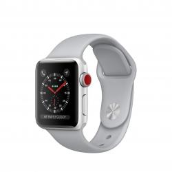 ساعت هوشمند اپل واچ 3 مدل GPS 38mm Silver Aluminium Case with Fog Sport Band