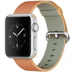 ساعت هوشمند اپل واچ مدل 38mm Aluminum Case With Gold/Red Woven Nylon