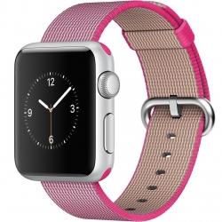 ساعت هوشمند اپل واچ مدل 38mm Silver Aluminum Case With Pink Woven Nylon
