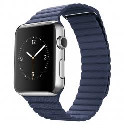 ساعت هوشمند اپل واچ مدل 42mm Stainless Steel Case with Midnight Blue Leather Loop