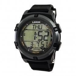 ساعت مچی دیجیتال مردانه لاروس مدل 0318 -m1192 به همراه دستمال مخصوص برند کلین واچ