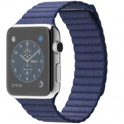 ساعت مچی هوشمند اپل واچ مدل 42mm Stainless Steel Case With Large Bright Blue Leather Loop