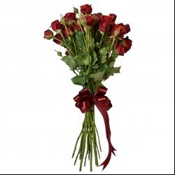 شاخه گل رز مینیاتوری قرمز دسته 10 عددی