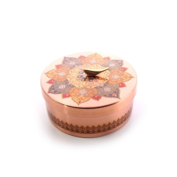 شکلات خوری دردار مسی با تزیین نقوش سنتی کد 1001200101