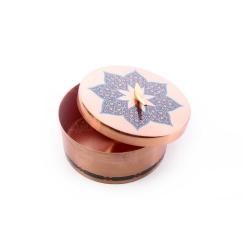 شکلات خوری دردار مسی با تزیین نقوش سنتی کد 1001200106
