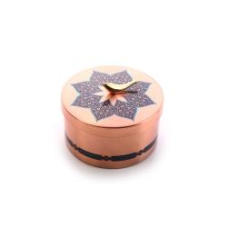 شکلات خوری مسی آرانیک مدل دردار با تزیین سنتی کد 1001200107