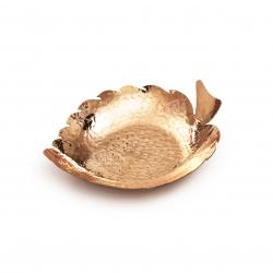 شکلات خوری مسی رنگ مسی طرح برگ  مدل 1001200065
