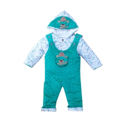 سرهمی نوزادی مدل خرسی کد Er19 رنگ سبز