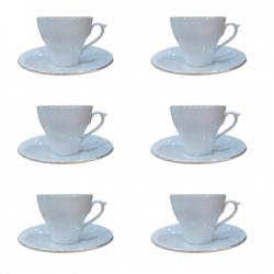 سرویس چای خوری 12 پارچه مقصود مدل خط طلا رویال