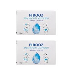 صابون بچه فیروز پروتئین شیر -75 گرم بسته 2 عددی