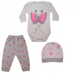 ست 3 تکه لباس نوزاد کد C-30