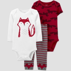 ست 3 تکه لباس نوزادی کارترز طرح Fox کد M558