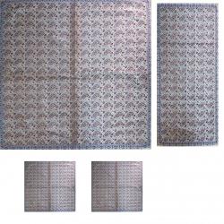 ست 4 تکه رومیزی ترمه ابریشمی کد 1004