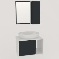 ست کابینت و روشویی lux1161به همراه آینه وباکس