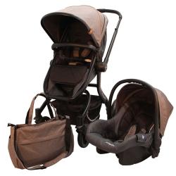 ست کالسکه و کریر بیبی فور لایف مدل گوبی به همراه ساک لوازم نوزاد