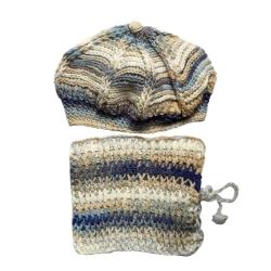 ست کلاه و شال گردن بافتنی بچگانه مدل هرمان