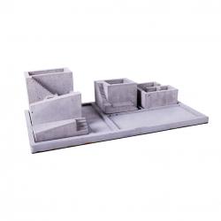 ست لوازم اداری رومیزی مدل پله مجموعه 5 عددی