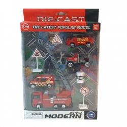 ست ماشین بازی مدل آتش نشانی کد 79