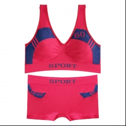 ست نیم تنه و شورت ورزشی زنانه کد 02-88831 رنگ مرجانی