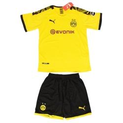 ست پیراهن و شورت ورزشی پسرانه طرح دورتموند کد 2019.20 رنگ زرد                     غیر اصل