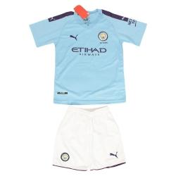 ست پیراهن و شورت ورزشی پسرانه طرح منچسترسیتی کد 2019.20 رنگ آبی روشن                     غیر اصل