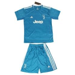 ست پیراهن و شورت ورزشی پسرانه طرح یوونتوس کد 2019.20 رنگ آبی                     غیر اصل
