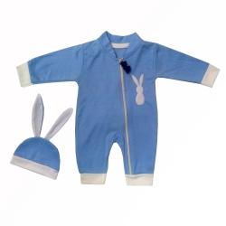 ست سرهمی و کلاه نوزادی مدل خرگوش کد 0001