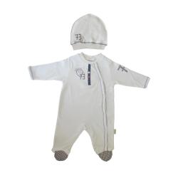 ست سرهمی و کلاه نوزادی مدل tafyy-002