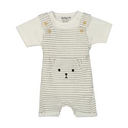 ست سرهمی و تی شرت نوزادی بی بی ناز مدل 1501492-0193