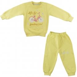 ست سویشرت و شلوار نوزادی دخترانه نیروان کد 2122 -4