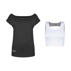 ست تی شرت و نیم تنه ورزشی زنانه پانیل مدل 167BkW